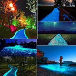 pietre da bagliori per ciottoli da giardino Sconti 100 bagliore di pietre luminose ciottoli Rock Fish Tank Aquarium Garden Road Decor