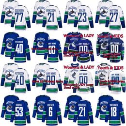 e7078f188 Vancouver Canucks Jersey Elias Pettersson Bo Horvat Brock Boeser Antoine  Roussel Nikolay Goldobin Jake Virtanen Loui Eriksson