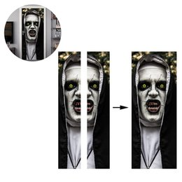 2019 partido do dia das bruxas posters Halloween DIY Horror Zombie janela da porta Etiqueta assustador do partido do Dia das Bruxas Props casa Home Decor Poster adesivo parede Decor Halloween partido do dia das bruxas posters barato