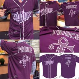 фланелевый бейсбольный джерси Скидка Миннесота Фиолетовый Близнецы Принц Джерси MN Близнецы Третий Ежегодный Принц Ночь Целевое Поле Мужчины Женщины Молодежь Малыш Размер S-3XL Двойной Сшитые