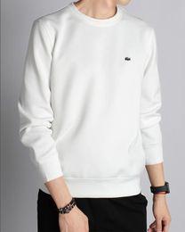 Polo largo libre de la manga online-Nuevo Diseñador Hombres Marca applique Camisa delgada de manga larga Cuello redondo Hombre de negocios Polos Camisa de alta calidad de algodón Hombres Camisa tee envío gratis