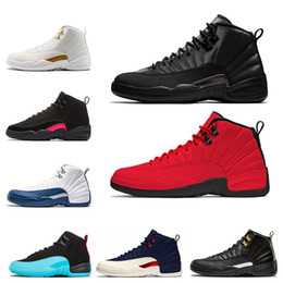 Zapatos para hombre alas online-aireJordánretro 12 Zapatillas de baloncesto para hombre Winterized Gym Red College Navy Wings Black CNY Bulls hombres Zapatillas deportivas Tamaño 7-13