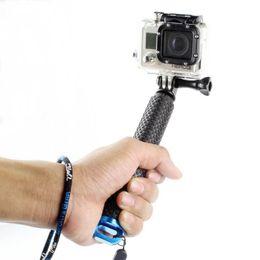 Acessórios gopro preto on-line-Portátil selfie vara Estender monopé para GoPro herói 7 6 5 Sessão Preto Xiaomi Yi 4K Sjcam Sj4000 Eken H9 Camera Acessório