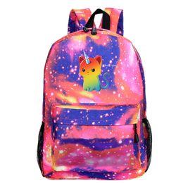 Mädchen rucksack rucksack online-Unicorn Laptop Knapsack Children Bag Galaxy Mochilas Escolar Boys Backpack Teenager School Bags Travel Bag Girls