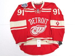 1faf0d0490e Cheap custom Sergei Fedorov DETROIT RED WINGS 2014 WINTER CLASSIC EDGE 2.0  JERSEY stitch add any number any name Mens Hockey Jersey XS-6XL