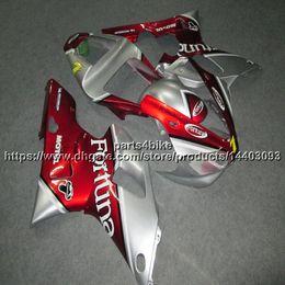 Kit de carenado yzf r1 plata online-Custom + 5Gifts rojo plata YZFR1 00-01 Carenado de motocicleta para yamaha YZF-R1 2000 2001 YZF R1 kit de plástico
