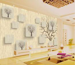 3d hd box Скидка Обои 3d mura на заказ гостиная спальня домашнего декора HD Creative 3D коробка дерево современный минималистский 3D обои ТВ фон стены