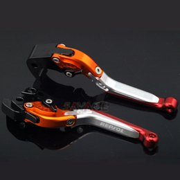 Pivot Brake Clutch Levers and Motor Grips For Honda CBR600RR2003-2006 orange red