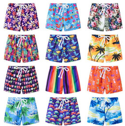 mini trunks Promo Codes - Kids Shorts Printed Baby Boys Beach Shorts Children Cartoon Swim Trunks Summer Baby Pants Fashion Kids Clothing 13 Designs YW2323