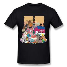 2020 mondes drôles t-shirts Drôle de bande dessinée Le monde incroyable de T-shirt Gumball style T-shirt garçon mondes drôles t-shirts pas cher