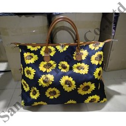 Bolsa de lona em listrado on-line-Striped Flower Sunflower Mulheres Totes bolsa Patchwork Cor Duffel bolsas de lona lona das senhoras Grande Shoulder Bag Weekender Bag C82008