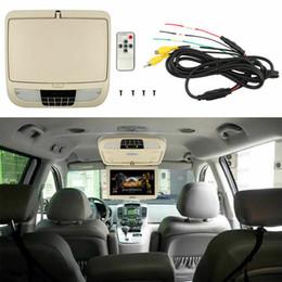 reproductor de mp3 hyundai tucson Rebajas 10 pulgadas del coche Flip Down TFT LCD Monitor de montaje en techo Monitores de techo LED Light car dvd