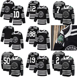 hombres del jersey de los blackhawks Rebajas Hombres Mujeres Niños Chicago Blackhawks hockey 88 Patrick Kane 19 Jonathan Toews 2 Keith 20 Saad 12 Alex DeBrincat Red White Jerseys S-3XL