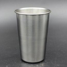 16 oz Copo de Aço Inoxidável Caneca de Cerveja De Metal Caneca de Cerveja Inquebrável BPA Livre Eco-friendly Para Beber Ferramentas Drinkware RRA1962 de