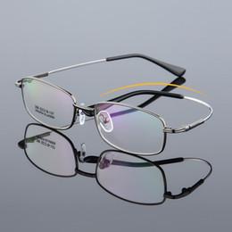 92b24d6813 ancho-139 Nueva memoria monturas de gafas elásticas para hombres, montura  completa, aleación de titanio, lentes de lectura masculinas, gafas de  montura ...