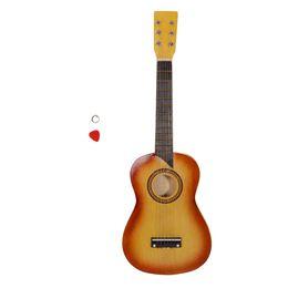 "voando guitarra branca Desconto 25"" + Escolha + Laranja Cordas guitarra acústica"