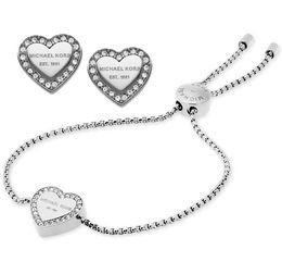 splendidi set di diamanti Sconti Nuovo design Siver / 18K oro rosa diamante braccialetto orecchini gioielli Set per le donne gioielli di moda Belle nozze / regalo di fidanzamento nave libera
