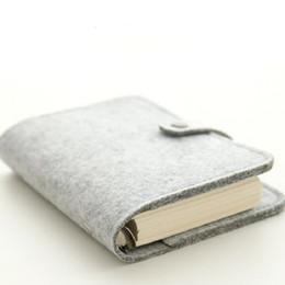 Personalizado pasta do caderno destacável Felt criativa Diário Handbook Pocket Book A5 A6 80 folhas 160 folhas de impressão completa Custom Logo presentes de