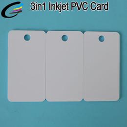 230pcs пустой струйный печати пластиковых карт ПВХ ключевых тегов бизнес комбо карты 3in1 cheap printable pvc cards от Поставщики печатные платы из пвх