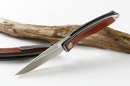 faca de aço 7cr13mov Desconto Top! Oferta especial CR trigo com bloqueio de aço faca dobrável 7CR13MOV 56HRC camping faca de caça faca dobrável