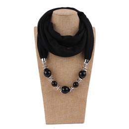 Cachecóis pingente Para A Mulher 2018 Marca Nova Moda Nacional Wraps Luxo de Alta Qualidade Acrílico Beads Multicolor Liso Pashmina Quente LSF078 de