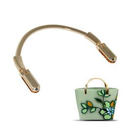 2becd02dbfc 2019 accesorios de bolsos Semicírculo de oro monedero de metal bolso bolso  manija de reemplazo bricolaje