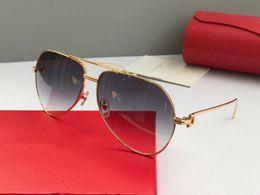 2019 ovale metallrahmenbrille Mode luxus männer marke sonnenbrille 0110 metall pilot rahmen designer brillen für frauen top qualität verkauf stil anti-uv400 günstig ovale metallrahmenbrille