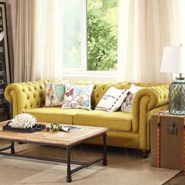 Muebles europeos de lujo online-De alta calidad de estilo europeo de muebles de lujo Tela vida sofá cama para relajarse