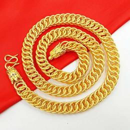 Fio de latão banhado a ouro on-line-Latão puro dos homens banhado a ouro 24k torneira de ouro fio liso colar