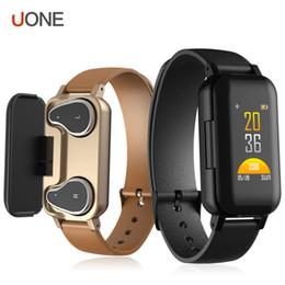T89 Akıllı Bilezik TWS Kulakiçi Bluetooth Kulaklık Spor izci Kalp Hızı Monitörü Spor İzle Perakende Kutusu ile Android ve iOS için cheap smart watch retail box nereden akıllı saat perakende kutusu tedarikçiler