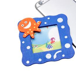 1 Pcs / 2 pc / 3 pcs Animal Dos Desenhos Animados Photo Frame Crianças Artesanais Home Decor Artesanato Brinquedos Artesanais Presente Não Tecidos Applique DIY Pano de