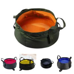 Vasi di pesce online-Nuovo 10 colori secchio di pesca lavandino secchio esterno bacino di lavaggio sacchetto di acqua pentola per campeggio di lavaggio vasca da bagno Supplie T2I5116