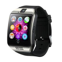 Q18 смарт-часы Bluetooth смарт-часы для мобильных телефонов Android поддержка SIM-карты камеры ответ на вызов и настройка различных языков с коробкой сверху от