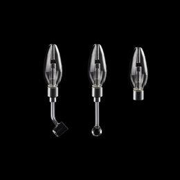 2019 dispositivos de caixa preta 510 tubos de vidro Dab Dab de palha de vidro Bongs 45 graus 90 graus Quartz Banger prego Bowls Full Size Hit cachimbos de água de vidro
