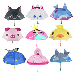 Hw home Cute Dog Cartoon Animal Umbrellas Fold Sun Umbrella Parasol Vinyl Anti-UV Umbrellas
