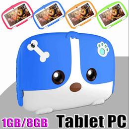 """tableta china teléfono sim Rebajas OEM Marca niños Tablet PC tableta de 7 pulgadas 7"""" hijos Quad Core Android 6.0 de Allwinner A33 Google verdadero jugador ROM de 1 GB de RAM de 8 GB con el paquete MQ10"""