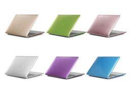 Canada Étui rigide pour ordinateur portable couleur métal mat pour Macbook Air 13 12 11 nouveau Macbook Pro 13 15 avec écran tactile Retina Cover Cover supplier 11 laptop hard case Offre