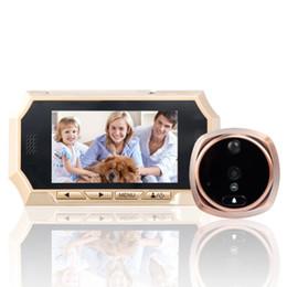 2019 lunga distanza dalla fotocamera Videocitofono antifurto per videocamere HD da 4,3 pollici Videocamera elettronica cat eye campanello per rilevazione di movimento