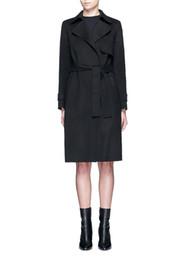 casual mäntel für damen Rabatt Long Slim Womens Long Coats 2019 Winter Elegant Lässige Wollmischung Mantel und Jacke Solid Black Grey Ladies Coats