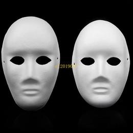 Máscara em branco cara cheia on-line-400 pcs Halloween Full Face Máscaras para Adultos DIY Mão-Pintado Pasta de Papel Gesso Coberto de Mache Em Branco Máscara Atacado Homens Mulheres Simples Partido Máscara
