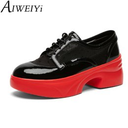 928ffc266e AIWEIYi New Fashion Round Toe Lace Up Women Oxfords Vintage Style Brogue  Oxford Shoes For Women Ladies Casual Flat Shoes ladies black leather brogues  for ...