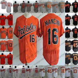 Orioles personalizados camisetas 2019 Baltimore # 1 Alcides Escobar 2 Jonathan Villar 16 Trey Mancini 19 Chris Davis 45 Mark Trumbo Hombres Mujeres jóvenes desde fabricantes