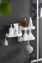 Chuveiros directos da fábrica on-line-Direto da fábrica espessamento ABS material pingente de banho conjunto de toalha suporte de gel de banho shampoo prateleira