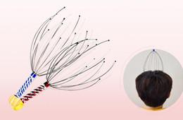 Anti estrés Estrés Alivio del dolor Pulpo Cabeza Cuero cabelludo Cuello Liberación de la tensión Masaje relajante Masajeador de garras Masajeador corporal 50pcs / desde fabricantes