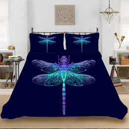 Deutschland Tiermuster bunte helle Libelle Bettwäsche Set Bettwäsche gehören Bettbezug Kissenbezug drucken Heimtextilien Bettwäsche Versorgung