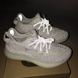 huge discount 6ad5d 8e3db 2019 adidas yeezy 350 v2 Reflective sply 350 Static Running Shoes para  mujer para hombre Kanye West V2 Static Designer Shoes Boots tamaño US5-11