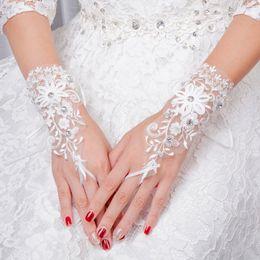 Argentina Nueva moda sin dedos, longitud de la muñeca, novia, guantes de novia, guantes de boda, cristales, accesorios de boda, guantes para novias Suministro