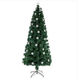 árvore de fibra óptica Desconto Grosso frete grátis 7 pés pequeno Fibra Luz Natal Optic árvore 290 Ramos