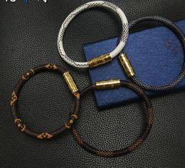 Canada Bracelet fabricants source acier inoxydable or rose bracelet pour hommes et femmes bracelet en cuir tissé bracelet corde ventes chaudes cheap source leather Offre