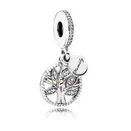 Deutschland Mode Große Lange Münzen Blätter Baum Anhänger Perlen Für Pandora Armbänder Halsketten für Frauen Mädchen DIY Schmuck Femme Silber Farbe Versorgung